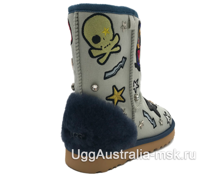UGG Classic Short Patch It White