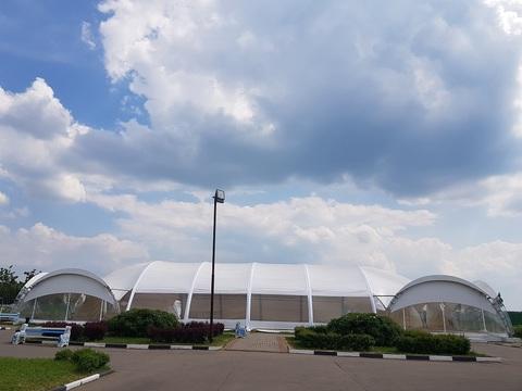 Арочный шатер 21,7х15,6 гексагональ