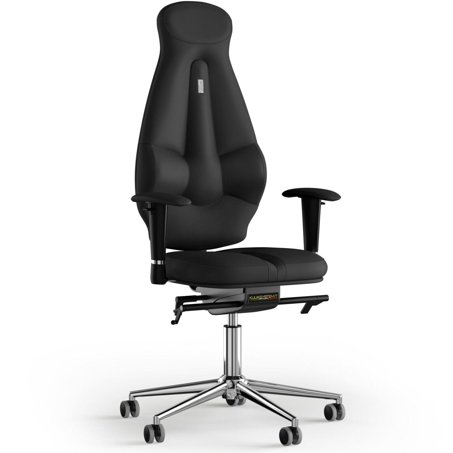 Кресло KULIK SYSTEM GALAXY Экокожа с подголовником без строчки