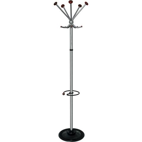 Вешалка напольная Квинтет ТМК1 на 5 персон с подставкой для зонтов (хром/вишня)