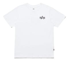 Футболка Alpha Industries Small Logo White (Белая)