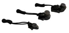 Ремонтный набор для молний, никель чёрный, размер М  AceCamp Zipper Repair Black Nickel, M