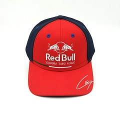 Кепка с вышитым логотипом Астон Мартин Ред Булл Формула 1 (Бейсболка Aston Martin Red Bull scuderia toro Rosso F1) красная