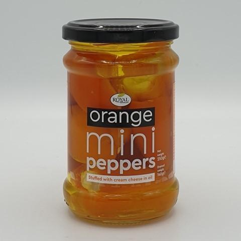 Перец мини оранжевый сладкий фаршированный сыром в масле ROYAL MEDITERRANEAN