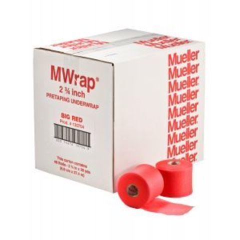 130704 M Wrap Материал используемый перед тейпированием (7,0см-27,3м)Красный в уп. 48 рул