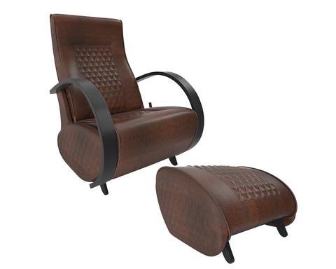 Кресло глайдер Balance 3 с пуфиком, экокожа (без накладок)