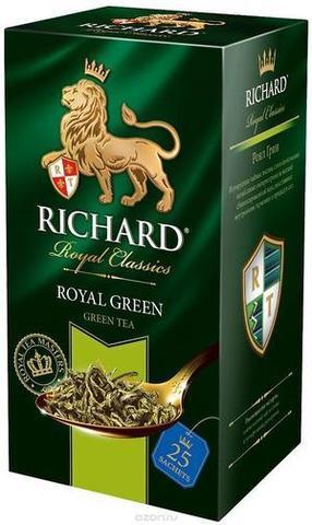 """Чай зелёный """"Richard"""" Royal Green 2г*25"""