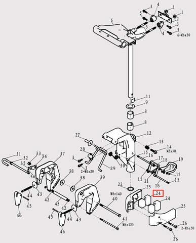 Амортизатор для лодочного мотора F9.8 Sea-PRO (13-24)