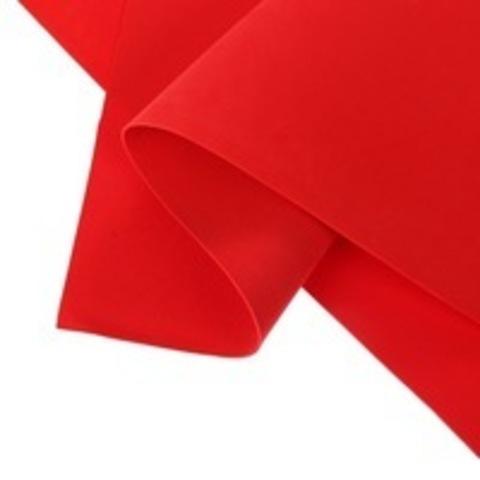 Фоамиран зефирный 1мм, цвет красный №135, размер 60х70. Цена за 1уп (10 листов).