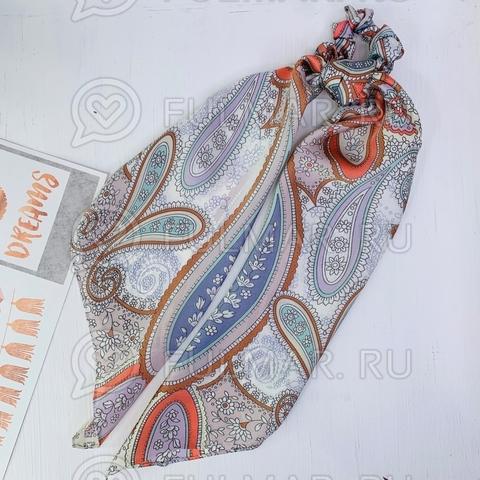 Платок с резинкой модный аксессуар для волос Пудра