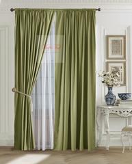 Комплект штор Ницца (оливковый)