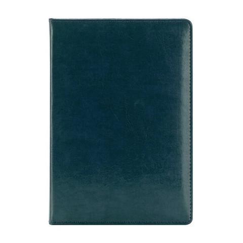 Ежедневник недатированный InFolio Britannia натуральная кожа А5 160 листов синий (золотистый обрез, 140х200 мм)
