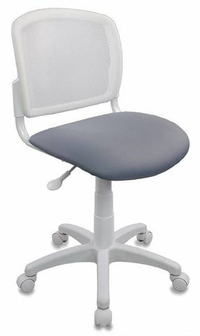 спинка сетка белый TW-15 сиденье серый 15-48