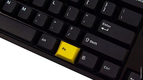 Клавиша Fn желтая