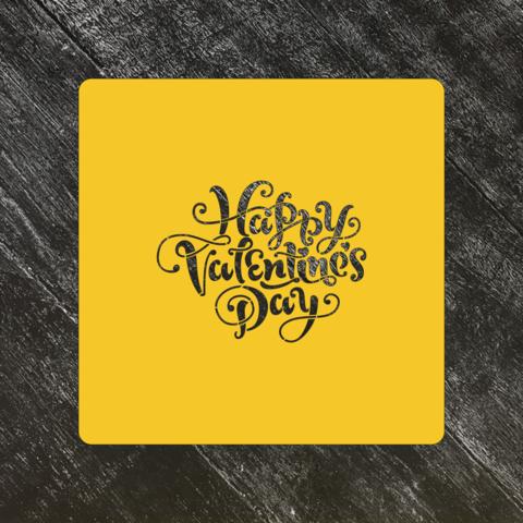 Трафарет любовь №55 Happy Valentines Day/Счастливого дня влюбленных