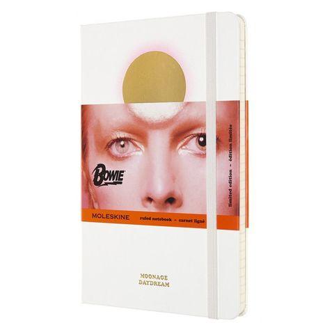 Блокнот Moleskine LIMITED EDITION DAVID BOWIE LEDBQP060A Large 130х210мм 192стр. линейка твердая обложка белый