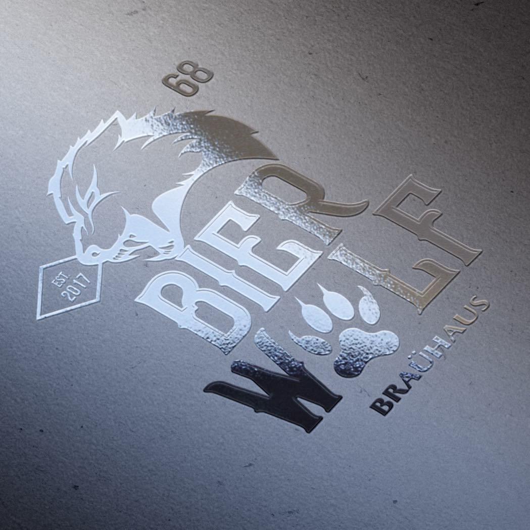 Логотип и фирменный стиль для пивоварни Bier Wolf