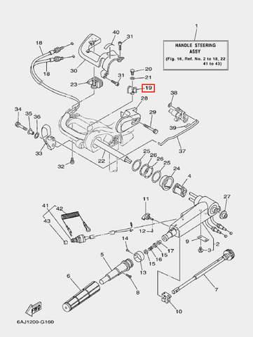 Держатель троса газа для лодочного мотора F20 Sea-PRO (16-19)
