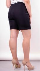Юрмала. Стильные шорты больших размеров. Черный.