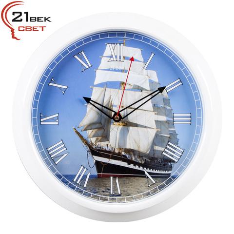 3024-60 (10) Часы настенные круг d=30см, рама белая