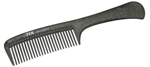 Расческа карбоновая Tek 2240C с удобной ручкой