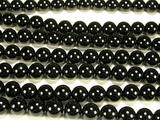 Нить бусин из шпинели черной, шар гладкий 10мм