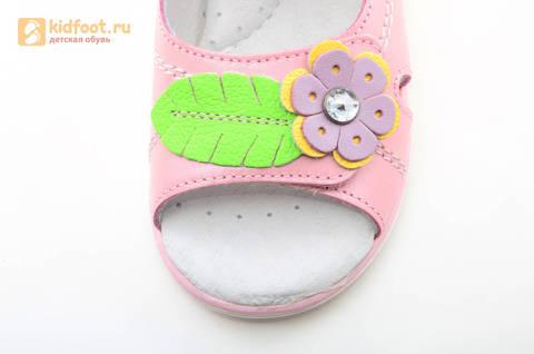 Босоножки ELEGAMI (Элегами) из натуральной кожи для девочек, цвет розовый. Изображение 10 из 12.