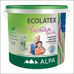 Краска для внутренних работ ALPA Ecolatex (Белый)
