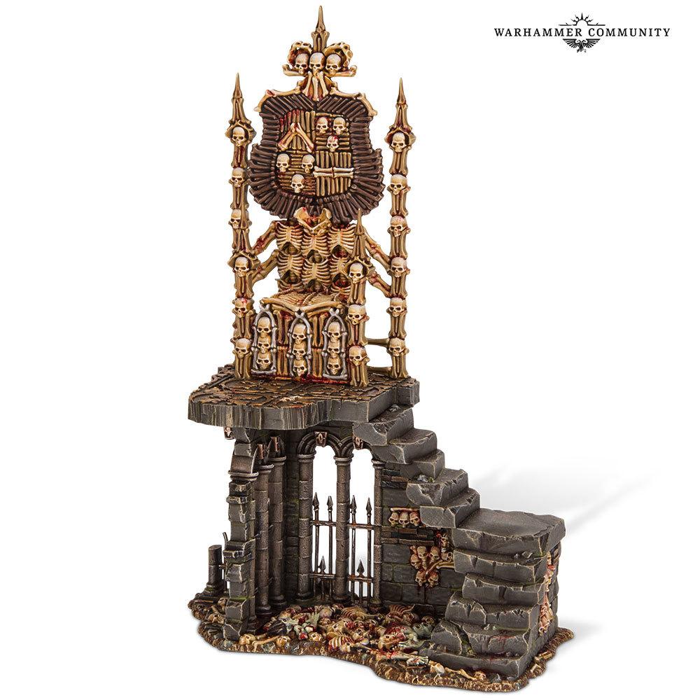 Flesh-Eater Courts Charnel Throne. Кладбищенский трон Дворов пожирателей плоти