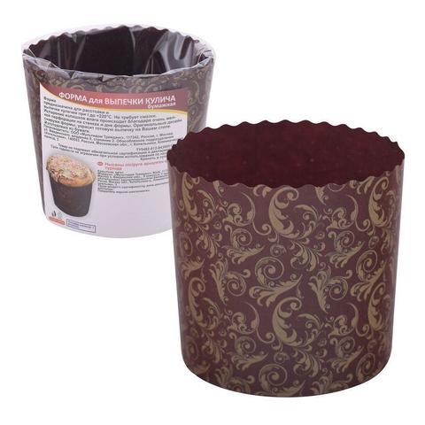 Форма для выпечки кулича бумажная. Набор из 3 шт, 9х9 см