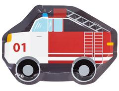 Тарелка фигур Пожарная Машина 25см 6шт/G