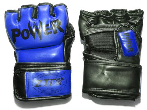 Перчатки ММА цвет. Синий, размер S, PVC. :ZTM-004-C-S: