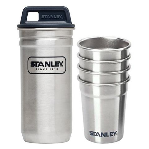 Набор стопок Stanley Adventure (4 шт по 59 мл. + футляр), стальной