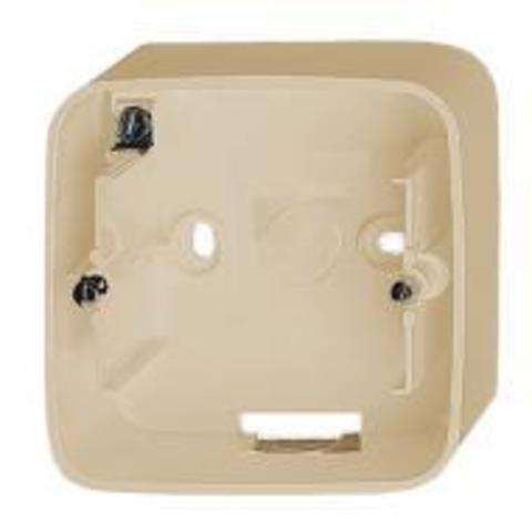 Одноместная коробка для накладного монтажа. Цвет Cлоновая кость. Legrand Valena Allure (Легранд Валена Аллюр). 755561