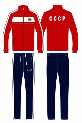 Спортивный костюм СССР 14M-AS-1346 красный