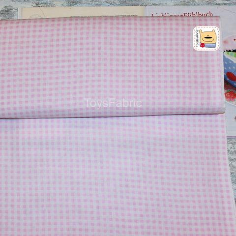 Ткань бязь Д35 Розовая клетка (75х50см)