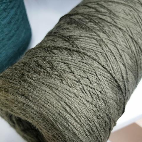 PECCI FILATI, Мериносовая шерсть 100%,, Оливковый (Granito mel), 375 м/100 г