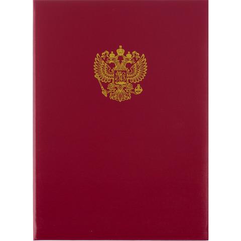 Папка адресная Герб России А4 бумвинил красная