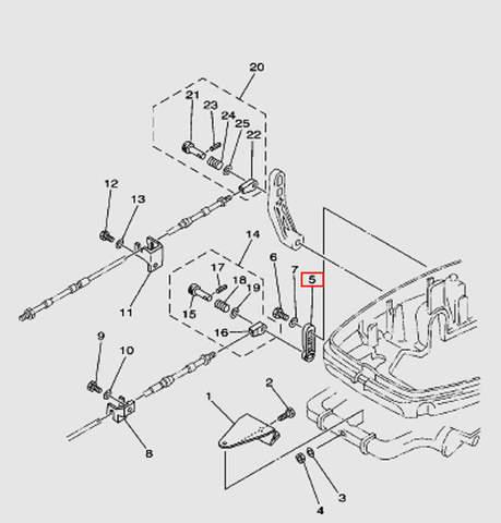 Рычаг управление переключением скоростей Т30EР (13-5W)