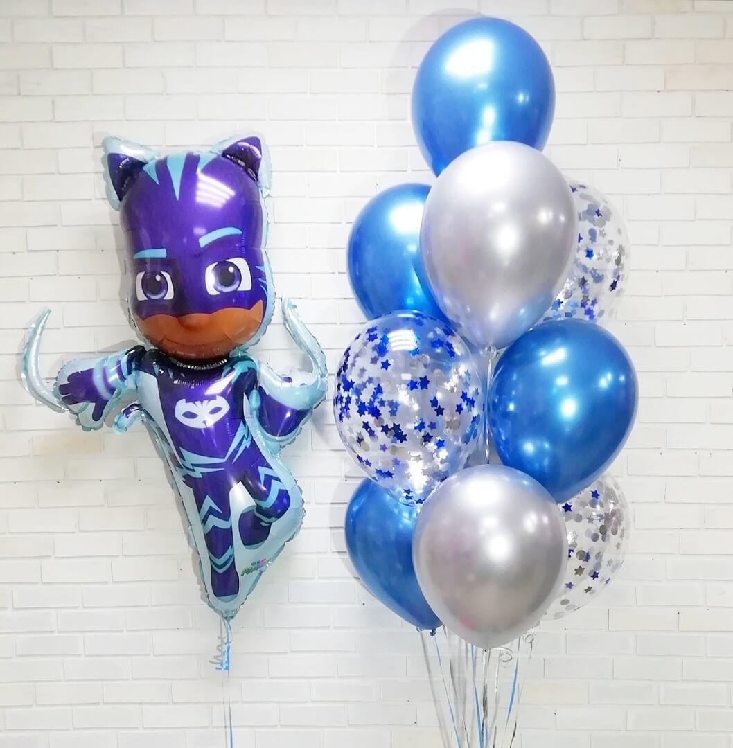 Шары Герои в масках Фонтан воздушных шаров Кэтбой 1nfpz_937yy.jpg