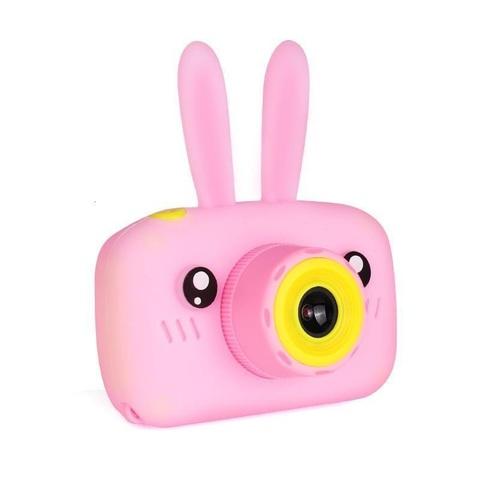 Детский фотоаппарат Fun Kids Camera с силикон чехлом зайчик розовый