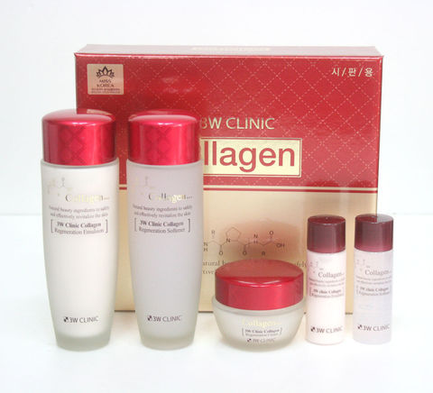 3W CLINIC ЛИФТИНГ Набор д/ухода за лицом Collagen Skin Care 3 Items Set