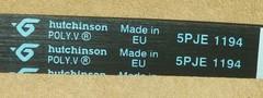 Ремень 1194 J5 (1113 мм) Ariston, Indesit 144656