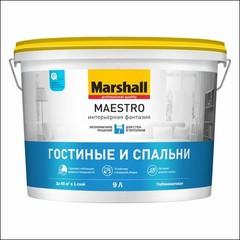 Краска латексная стойкая к мытью Marshall MAESTRO Интерьерная Фантазия (Белый)