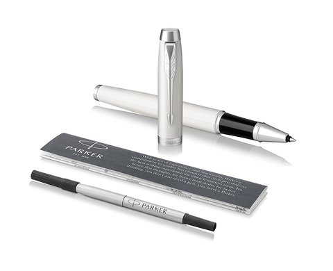 Набор с чехлом: Ручка роллер и Шариковая ручка Parker IM Core White CT123