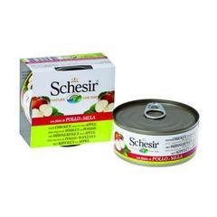 Schesir консервы для собак с куриным филе и яблоками 150г