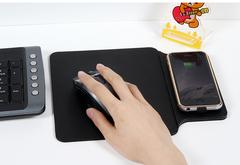 Беспроводное зарядное устройство, встроенное в коврик для мышки компьютера. QI- Cover