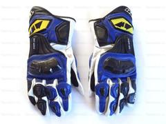Мотоперчатки кожаные RS Taichi NXT047, бело-синие, M L XL