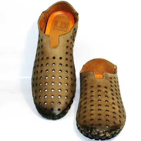 Летние туфли мокасины мужские смарт кэжуал Luciano Bellini Beige