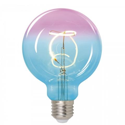 Лампа светодиодная UNIEL LED-SF01-4W/SOHO/E27/CW BLUE/WINE GLS77TR